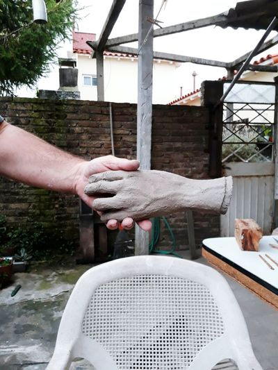 Human Hand Human Body Part One Person Day Adults Only Spraying Outdoors