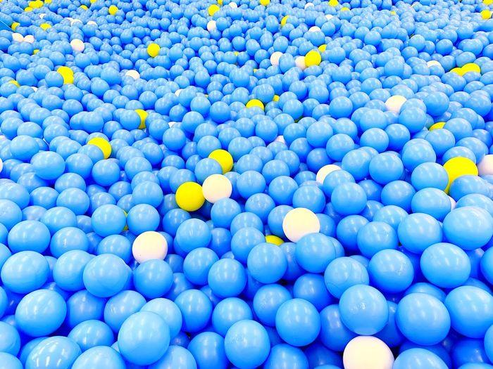 Full frame shot of ball pools