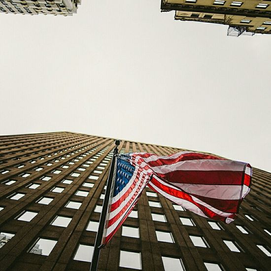 USA American Flag Flag Architecture Perspective NYC Skyscrapers Filmisnotdead Filme