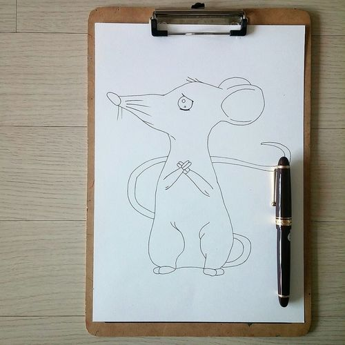 Mouse for my son Drawing Art, Drawing, Creativity Mouse Cute Fountainpen