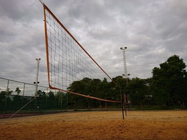 Sport Tree Cloud - Sky Sky Team Sport Competition Competitive Sport Goal Post Outdoors Day No People