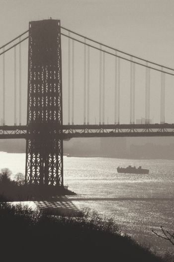 Ode to old NY GeorgeWashingtonBridge Bridge Bridges Hudson Valley Hudson River Ships NYC NYC Photography Autumn Cityscape City Water Thecloisters