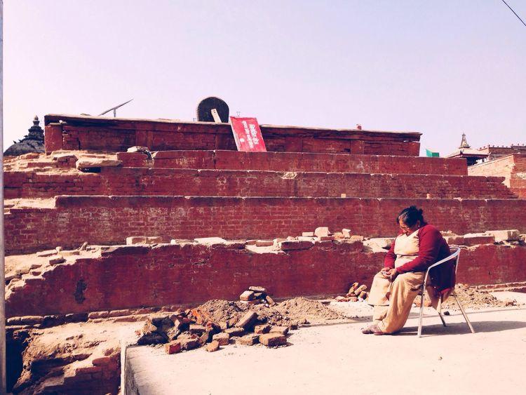 Contemplating the future Nepal Nepal Earthquake Kathmandu Elderly Woman Nepalese Travel Local People Rebuild  PrayforNepal