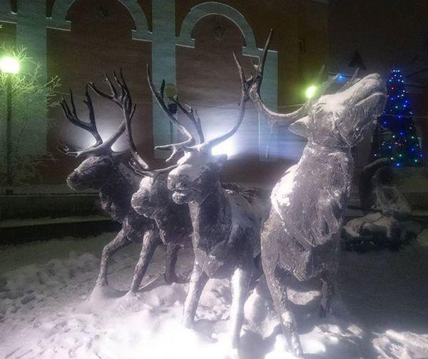 Местный фольклор 🎭 Салехард ✔ Sculpture Monument Deer Salekhard 🇷🇺
