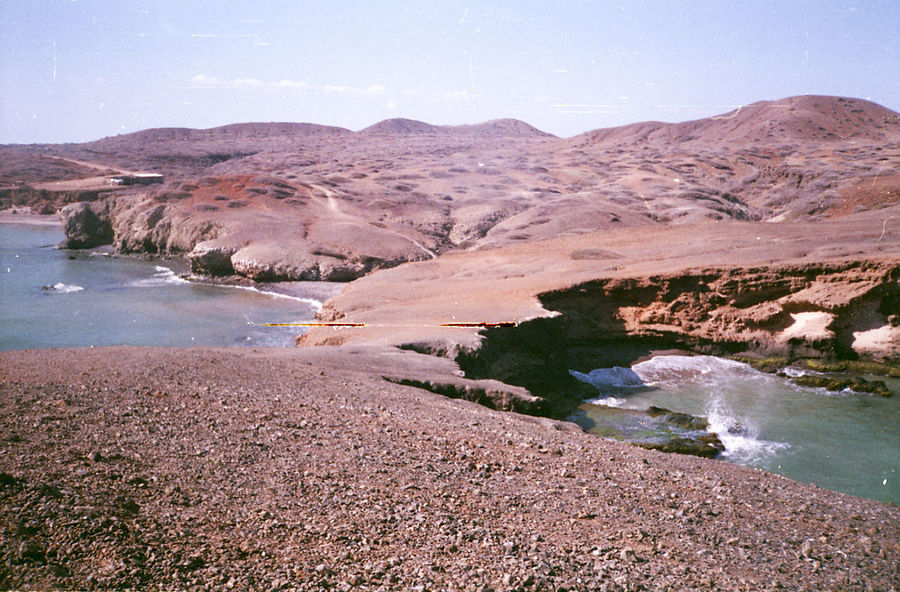 Hiking through the desert in Cabo de la Vela, Guajira. 35mm Film Analogue Photography Desert Guajira Guajira, Colombia Sublime Turquoise Colored Arid Climate Beach Beauty In Nature Desert Landscape Land Landscape Scenics - Nature Tranquil Scene Water