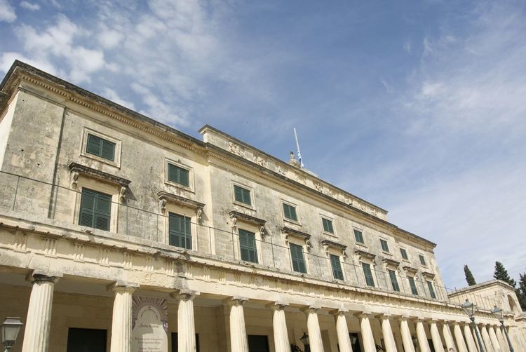 Museum of Asian Art, Corfu Town, Greece Architectural Column Architecture Asian Art Asian Art Museum Building Building Exterior City Cloud Column Corfu Day Exterior Façade Greece History Low Angle View Museum No People Sky Tourism Travel Destinations