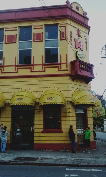 Bar 14 Yellow Old Building  Skol Beer