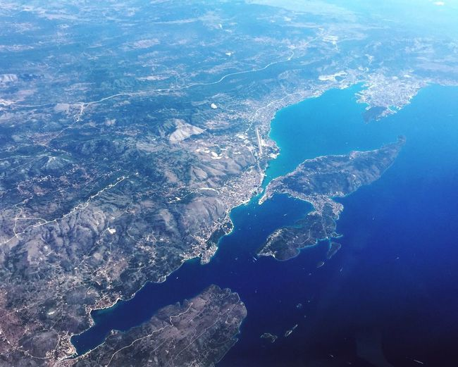 Planet earth. The pretty side. Nature From An Airplane Window Sea Adriatic Sea Aerial View Europe Travel Travel Photography On The Way