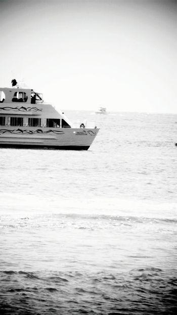 Sea Nautical Vessel Horizon Over Water Sky Water Outdoors Clear Sky Tranquility Nature Day Tranquil Scene Beauty In Nature Adventure Landscape_Collection Beach Photography Leisure Activity Landscape_photography Mode Of Transport Rippled Water Ripples In The Water Ocean Photography Offshore Platform Transportation Black & White Photography Black And White Collection