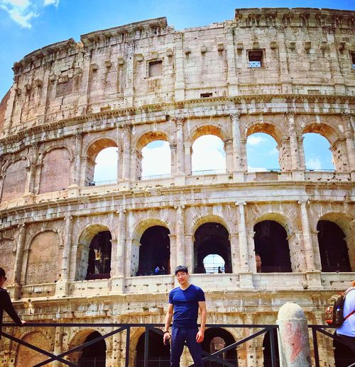 Blessed are the curious for they shall have adventures. Rome Bruce Lee History The Past Ancient Architecture Old Ruin Arch Amphitheater Built Structure Travel Destinations Ancient Civilization