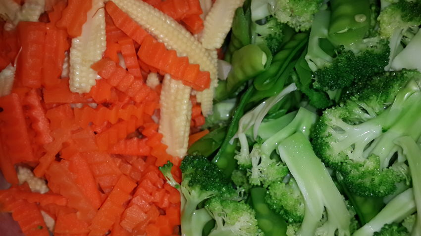Cooking Green Color Broccoli Carrots Close-up Contrast Corn Day Food Food And Drink Freshness Full Frame Green Color Healthy Healthy Eating Healthy Food Indoors  No People Orange Color Raw Materials Ready-to-eat Vegetable