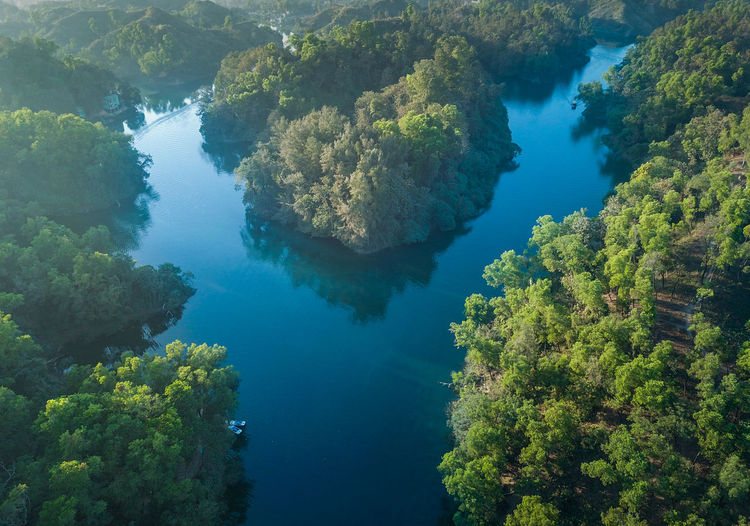 Water Beauty In Nature Scenics - Nature Nature Tranquility High Angle View Tranquil Scene Day Tree Plant No People Sea Idyllic Land Aerial View Non-urban Scene Outdoors Green Color Growth Turquoise Colored Bangladesh Bangladeshiphotographer Foys Lake Morning Drone Shot Drone Photography
