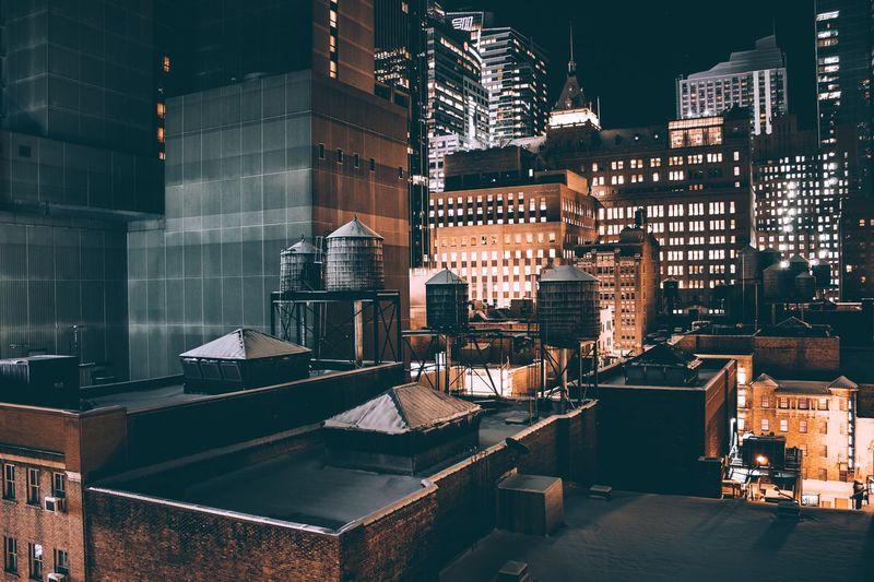 New York Architecture Built Structure City Building Exterior No People Night Illuminated Sky Photoshoot Photography Photographer Landscape Photooftheday Manhattan New York City