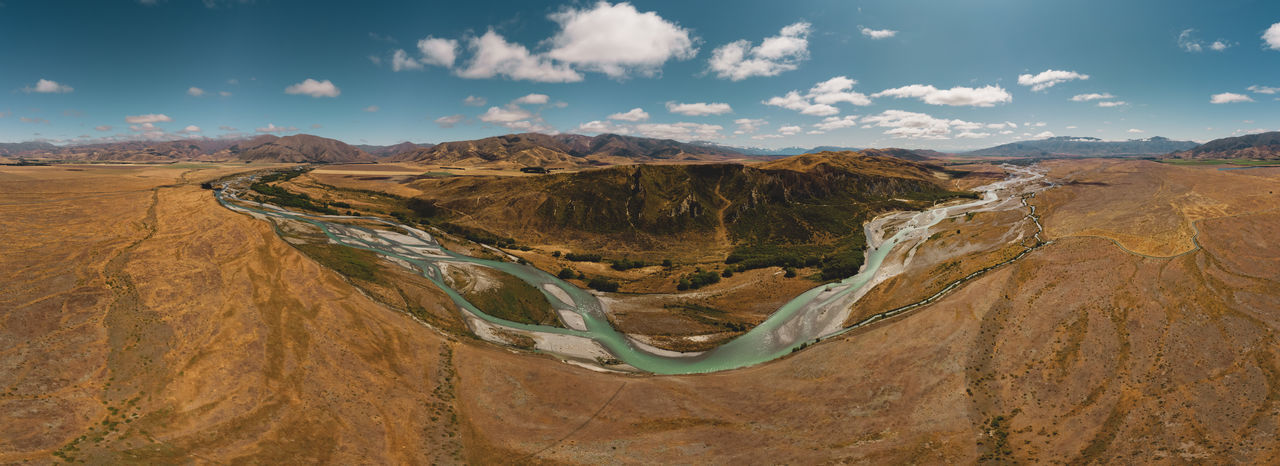 Panoramic view of river flowing on landscape