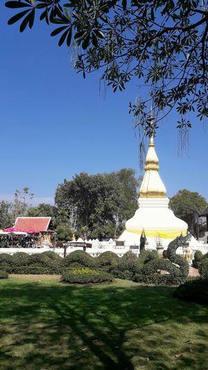 วัดพระธาตุขามแก่น จ.ขอนแก่น, Outdoors Day Sky Thailand Thai Landscape Blue Lifestyles travel Wutpratudkomkean(Temple) khon kean,Thailand.thailand Budda Budda Face Close-up Religion Temple