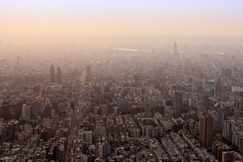 Taipei city views. Atmosphere City City Life Human Settlement Outdoors Sky Skyline Traveling