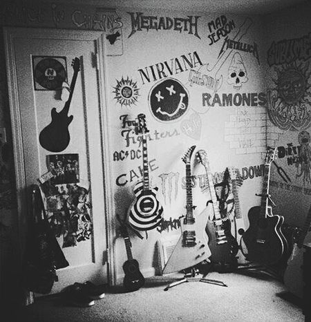 Room Dreamroom  Bands Lovelovelove Nirvana ACDC Bands That Saved Me Eyeem Bands Megadeth NiceShot ❤ Ilikethis Follow4follow Followme Followback Blackandwhite Photography Black And White EyeEm Best Shots - Black + White Foollowback Teenager Teens Teenager Room Loveit♡