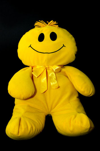 #puppet Smile Smiley Face Black Background Anthropomorphic Face Yellow Studio Shot Close-up