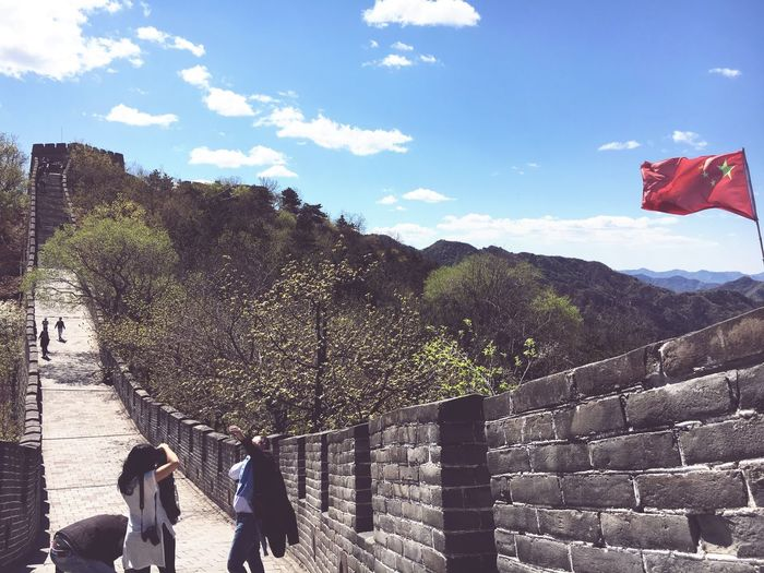 Real People Architecture Sky Sunlight Day Built Structure Travel Destinations Building Exterior Outdoors Women Men Tree Large Group Of People Nature People China Chinese Wall BEIJING北京CHINA中国BEAUTY Beijing