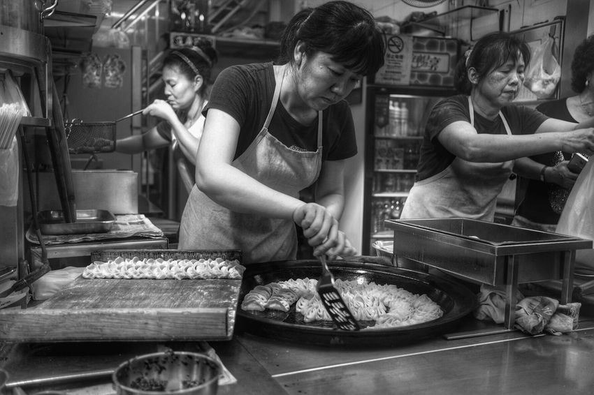 Lifestyles Food Freshness Preparation  Occupation Commercial Kitchen Preparing Food Chef Food And Drink Establishment Ready-to-eat Day Adults Only Full Length EyeEm Best Edits Bnw_life Bnw_planet Bw Cooking Motion People Feelings Place Of Worship Chinese Lantern