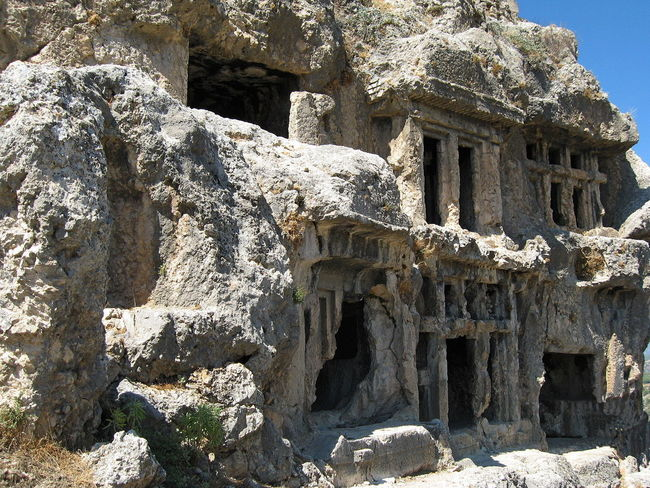 Tlos Antik Kenti, Fethiye- Türkiye Turkey Ancient Ancient Civilization Architecture Built Structure Day Low Angle View Mountain Nature No People Old Ruin Outdoors Rock - Object Stone Material Sunlight Tlos