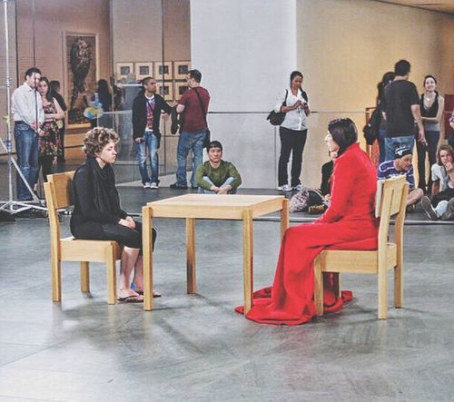 Found photo... I watched marina abramovic for an hour! Art Performance Staring Contest Fascinating Mesmerizing Mesmerized Moma N.Y. Moma Museum NYC New York New York City Manhattan MetropolitanMuseumofArt Metropolitan Museum Of Art Marina Abramović