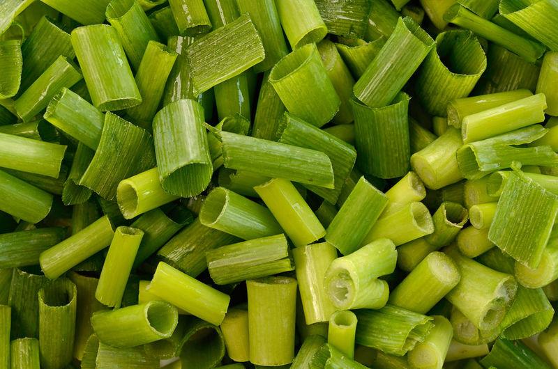 Full frame shot of chopped vegetables