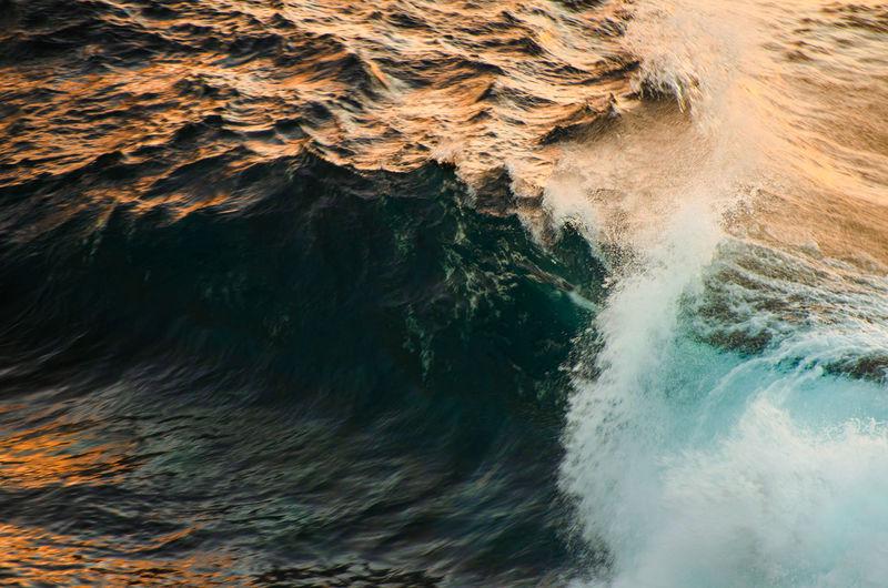Full frame shot of wave in sea
