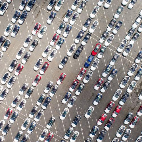 Aerial Aerial Shot Aerial View Drone  Factory Fremont Fremont California Tesla Tesla Motors Trucking