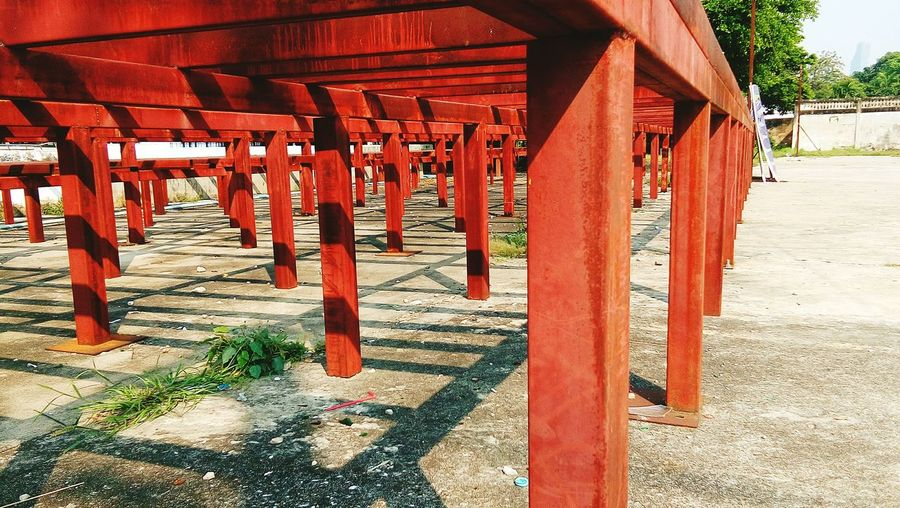 steel table legs Red Steel Structure Architecture Architecture_collection Construction Construction Site Construction Material Steel Structure  Steel Steel Construction EyeEm Selects Shadow Red Sunlight Architectural Column Architecture Built Structure Pavilion Cambodian Culture