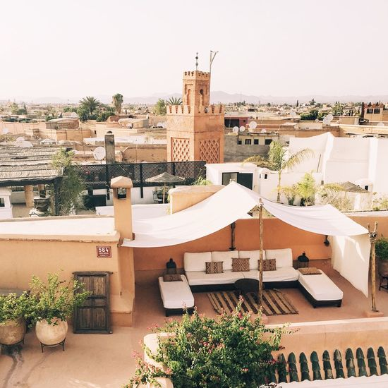 Architecture Building Exterior Built Structure Residential Building Roof House Outdoors Day Building Terrace Marrakech Architecture Morocco Medina Travel Summer
