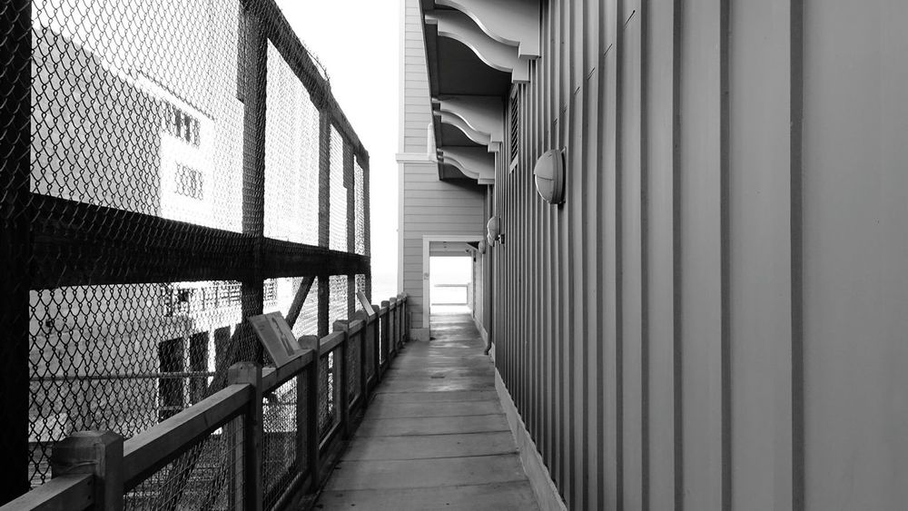 Monterey Door Alleyway Monochrome USA Long Walkway Into The Light