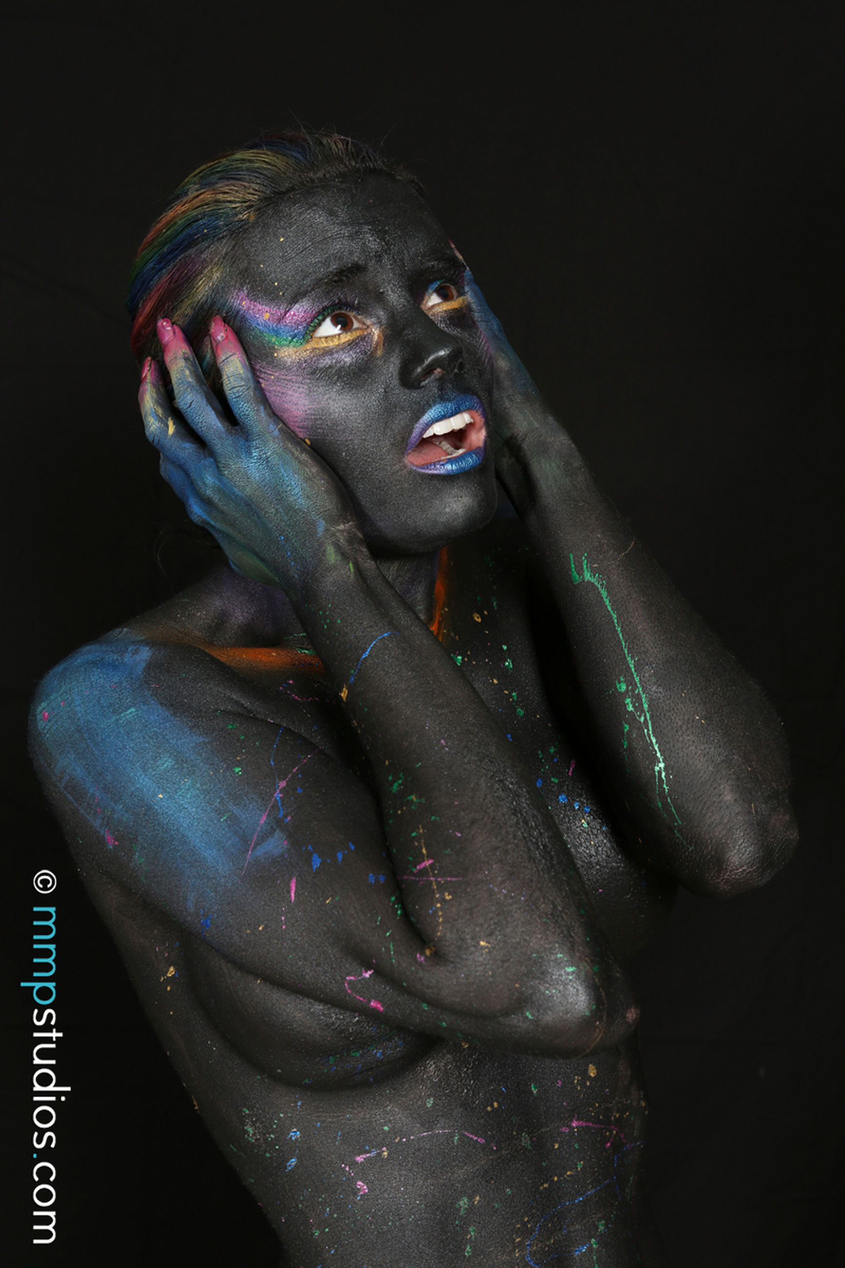 indoors, human representation, sculpture, studio shot, representation, statue, art and craft, black background, creativity, no people, male likeness, close-up, female likeness, arts culture and entertainment, religion, craft, paint, belief