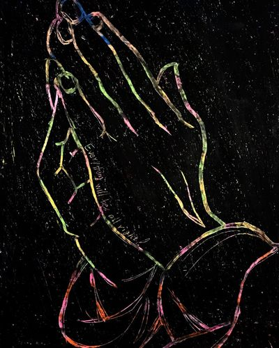 Praying Hands Art