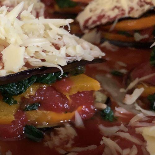 Full frame shot of chopped vegetables in plate