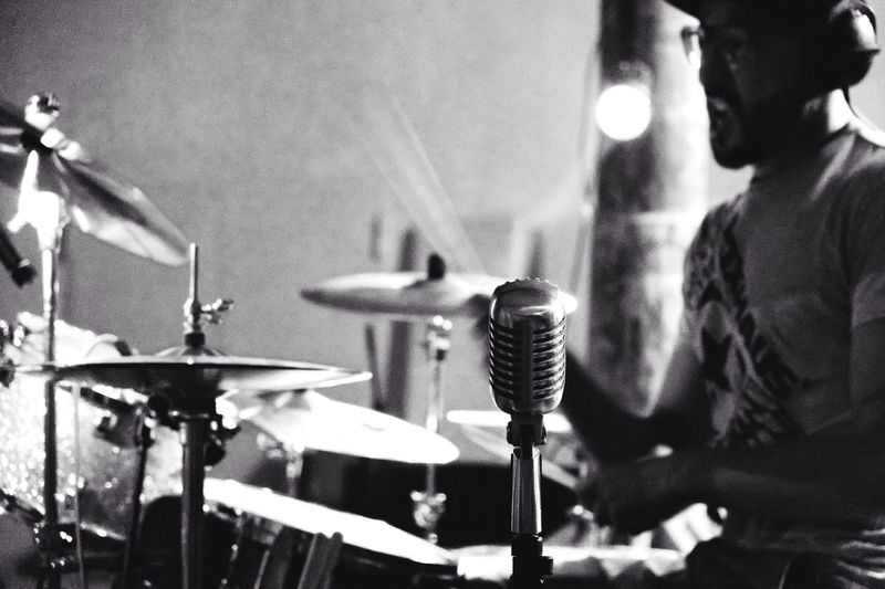 What Does Music Look Like To You? Microphone Drummer
