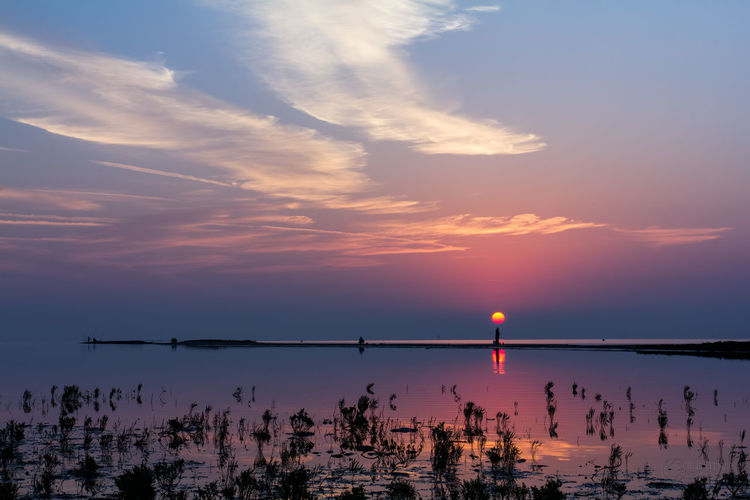 Blue Hours Blue Sky Cloud - Sky Fisherman Landscape Landscape_Collection Outdoor Photography Reflection Reflections In The Water Sunrise Sunset_collection Water
