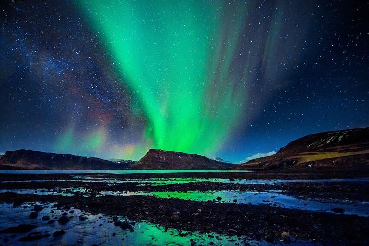 In all her beauty... Iceland Travel Check This Out Aurora Borealis Aurora Auroraborealis Northern Lights Solar Awesome Nature Night Outdoors Long Exposure Explore Wanderlust Iceland_collection Nightphotography Illuminated Sky Skyporn Starry Night Aurora Chasing Fine Art Photography