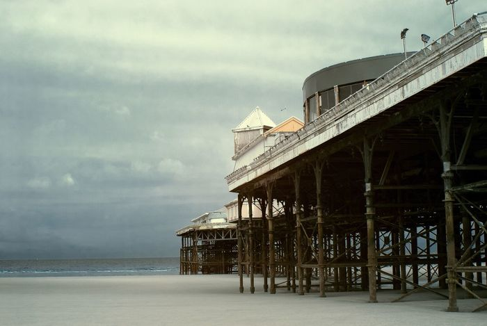 Sky Sea Built Structure Architecture Water Outdoors Cloud - Sky Day Beach Nature No People Horizon Over Water Building Exterior Pier Blackpool Blackpool Central Pier Sky And Clouds Gloomy