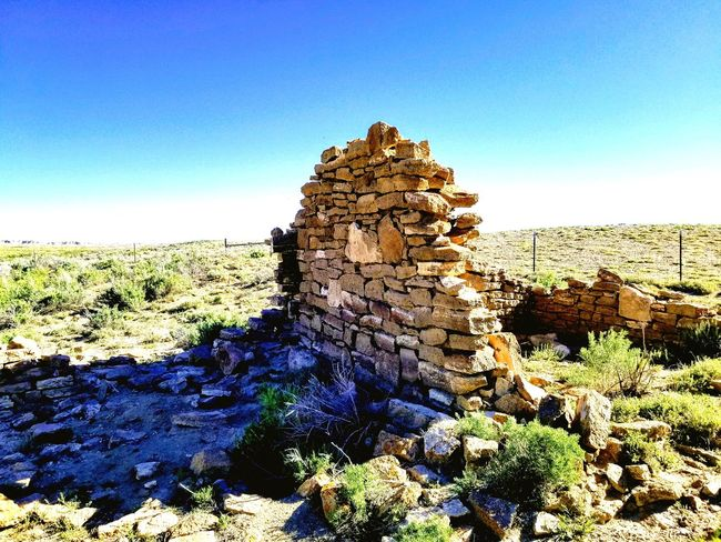 Ruins Wyoming Landscape The Great Divide Ft. LaClede Red Desert Wyoming Military History Abandoned Places Blue Clear Sky Sky