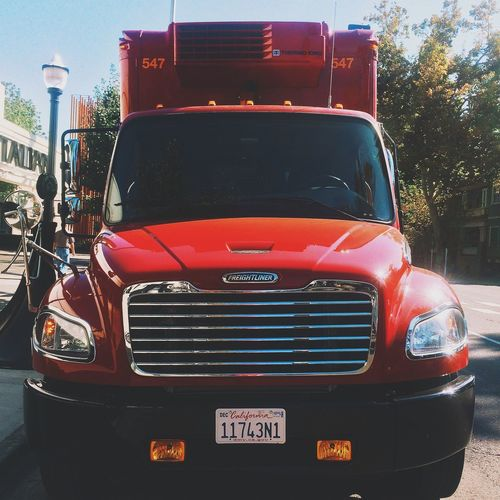Big red truck... Downtown IPhone Photography