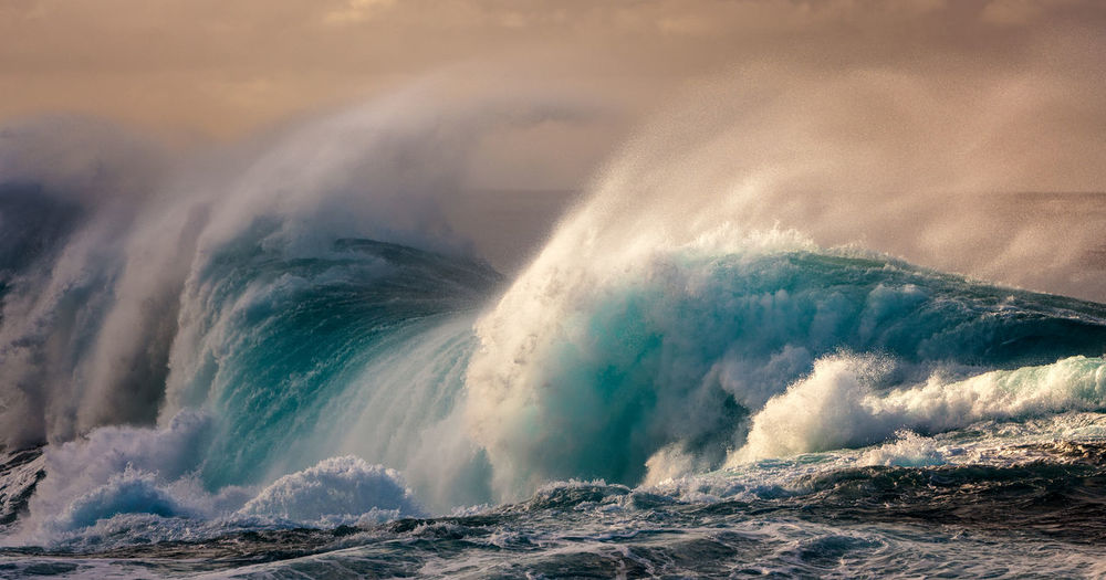 Big waves crashing, Madeira Portugal Power Motion Power In Nature Sea Water Beauty In Nature Wave Splashing Nature Scenics - Nature Breaking Seascape Turquoise Colored Turquoise Water No People Madeira Madeira Island Ocean Ocean Photography Waves, Ocean, Nature Waves Crashing Sunlight 2018 In One Photograph