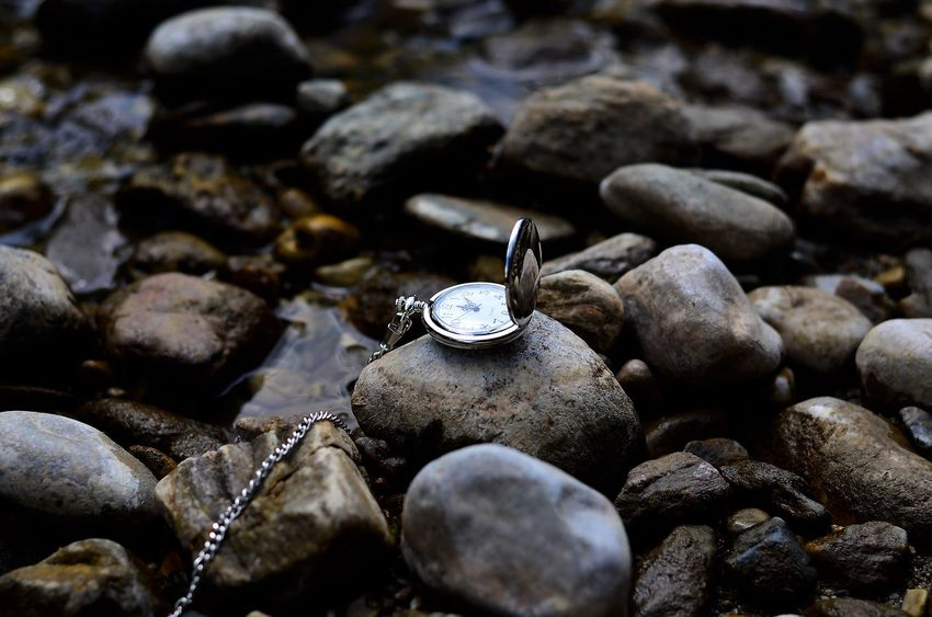 Pocket Watch Watch Stone Stones Nature Photography Nature Nature Silber Oldschool Time