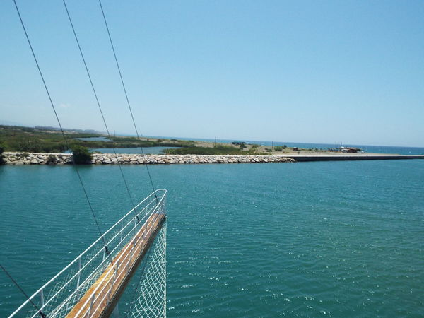 Day Trip Travel Photography Travel Destinations Tourist Attraction  Tourism Blue Sky Blue Water Sea River Mediterranean Sea Manavgat River River Mouth Mouth Of Manavgat River Mouth Of The River Bowsprit On The Way