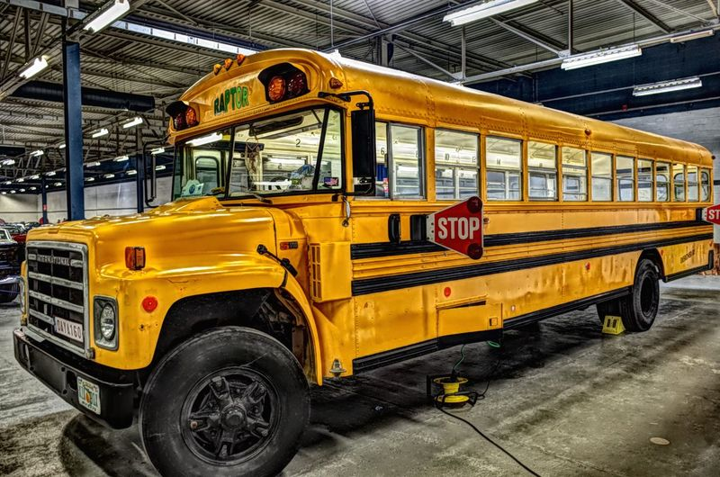 Yellow Yellow Color Yellow Bus  American School. Ricoh Gr2 RICOH GR 2 Ricoh GR II HDR Hdr_Collection Hdrphotography HDR Effect Land Vehicle School Bus Vehicle Bus