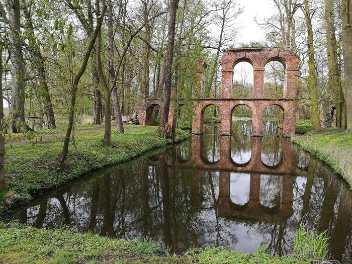 Akwedukt w miejscowości Arkadia. Obecnie stan do remontu. Arkadia Akwedukt Park Ogrod
