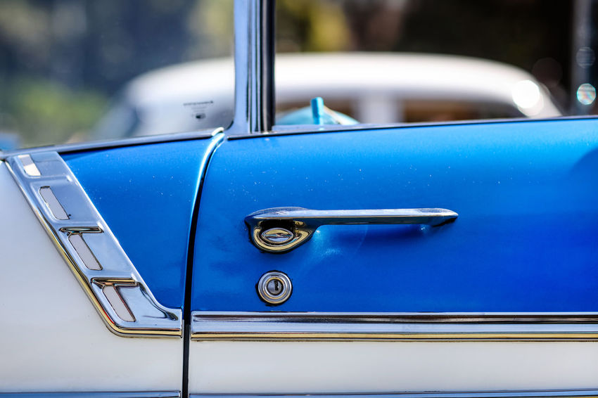 Classic car Cars Classic Cars Blue Car Car Door Chrome Day Door Handle Handle Metal Motor Vehicle No People Outdoors Retro Styled Stationary Turquoise Colored Vintage Car Vintage Cars