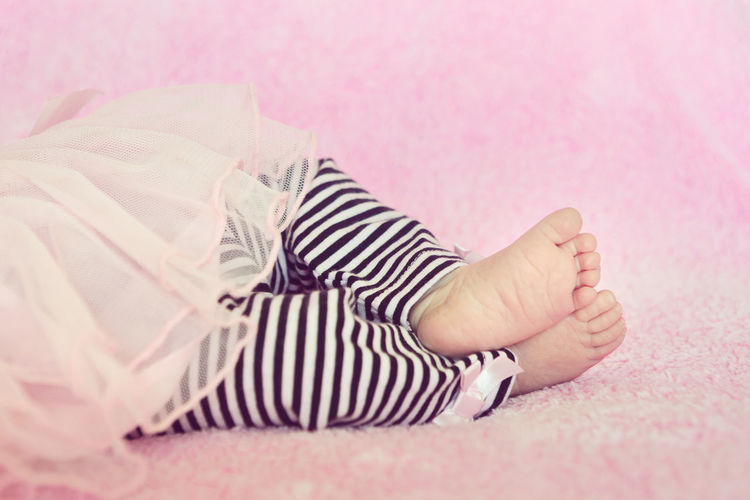 Cute Newborn Baby Girl Feet on Pink Blanket Newborn Baby Infant Life Prolife Pro Life  Girl Pink Child Innocent Daughter New Life Calm Sleeping Peaceful Feet Tiny