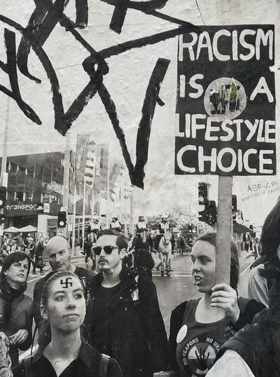 Racismisalifestylechoice Streetart Pasteupporn Flinderslane EyeEm Best Shots Picoftheday Melbourne
