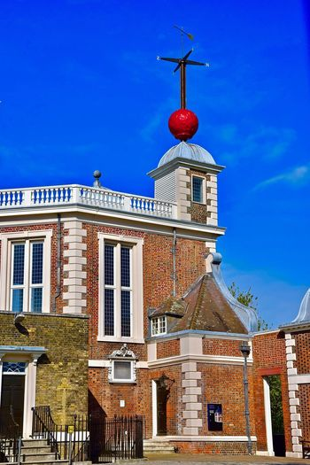 Greenwich Park (Observatory) - London. Greenwich Greenwich Park London Observatory Architecture Blue Building Exterior Clock Clock Face Clock Tower Greenwich Village History No People Observatorium Outdoors Red Travel Destinations